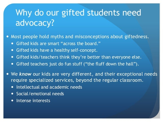 Gifted Education Advocacy, Networking, & PD... 21st ...