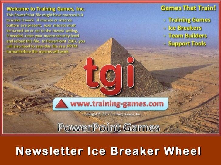 Newsletter Ice Breaker Wheel