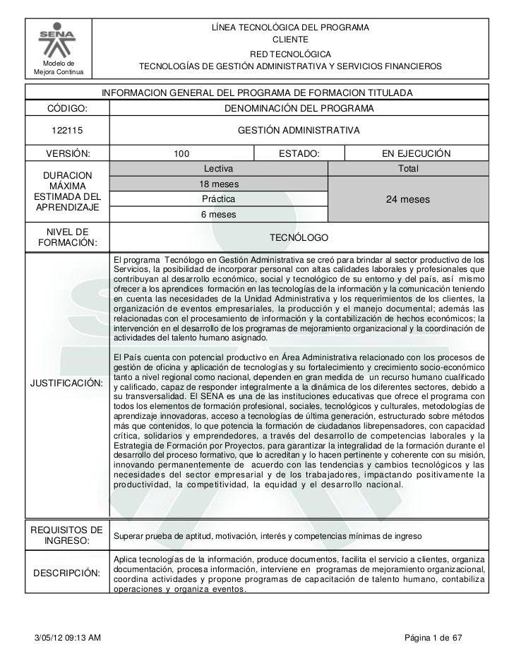 LÍNEA TECNOLÓGICA DEL PROGRAMA                                                           CLIENTE                          ...