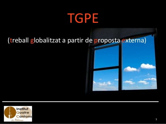 TGPE (treball globalitzat a partir de proposta externa) 1
