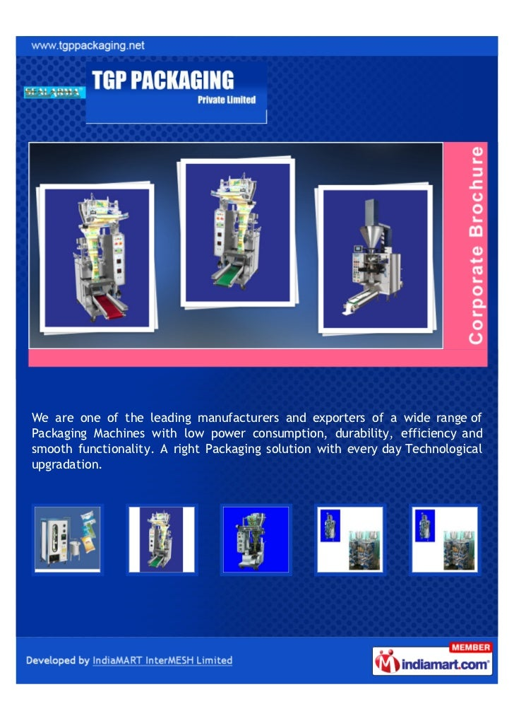 We are one of the leading manufacturers and exporters of a wide range ofPackaging Machines with low power consumption, dur...