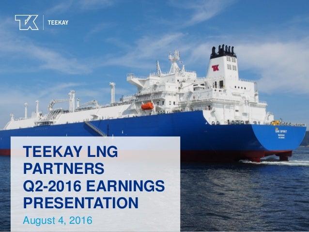 Teekay LNG Partners Q2-2016 Earnings Presentation