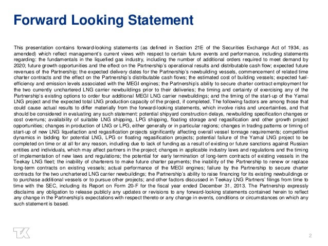 2 Forward Looking Statement This presentation contains forward-looking statements (as defined in Section 21E of the Securi...