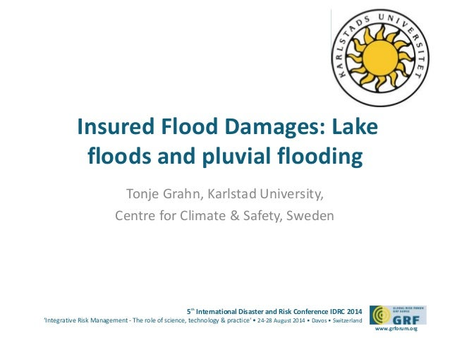 Insured Flood Damages: Lake  floods and pluvial flooding  5th International Disaster and Risk Conference IDRC 2014  'Integ...