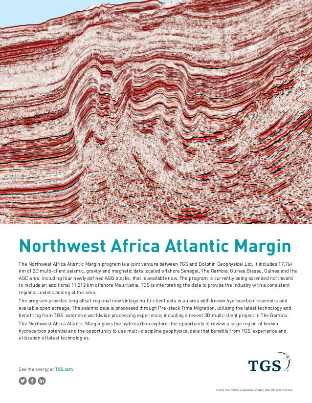 See the energy at TGS.com © 2014 TGS-NOPEC Geophysical Company ASA. All rights reserved. Northwest Africa Atlantic Margin ...