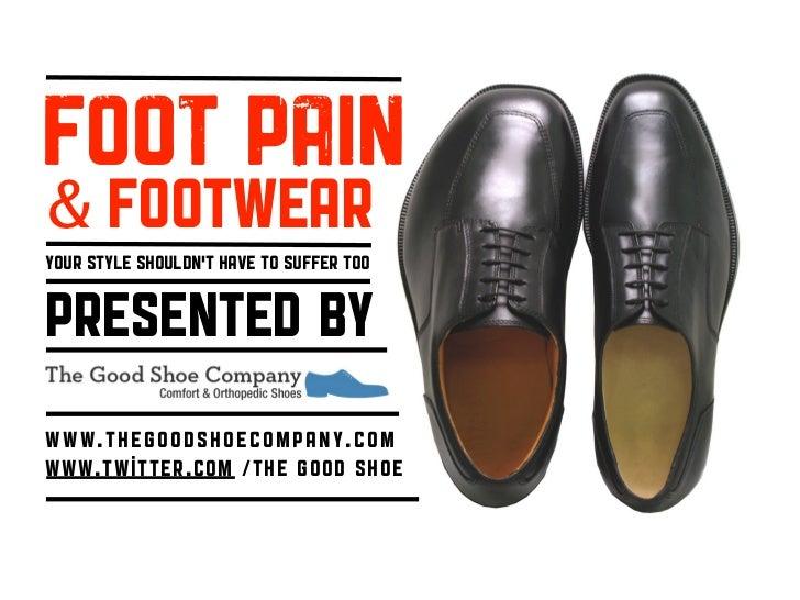 Foot Pain \u0026 Foot Wear