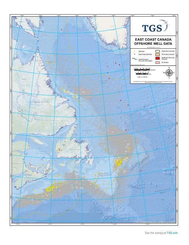 TGS GPS East Coast Canada Well Logs