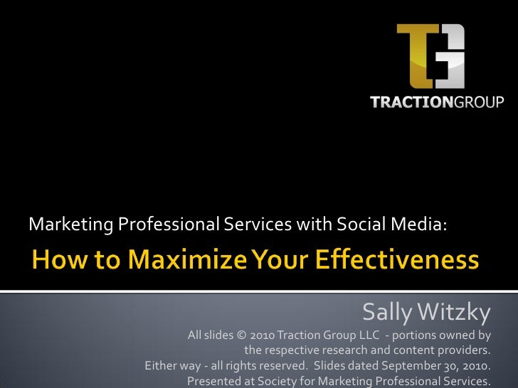 Marketing Professional Services with Social Media:                                                          Sally Witzky  ...