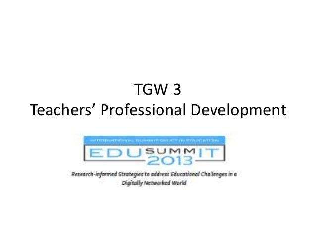 TGW 3 Teachers' Professional Development