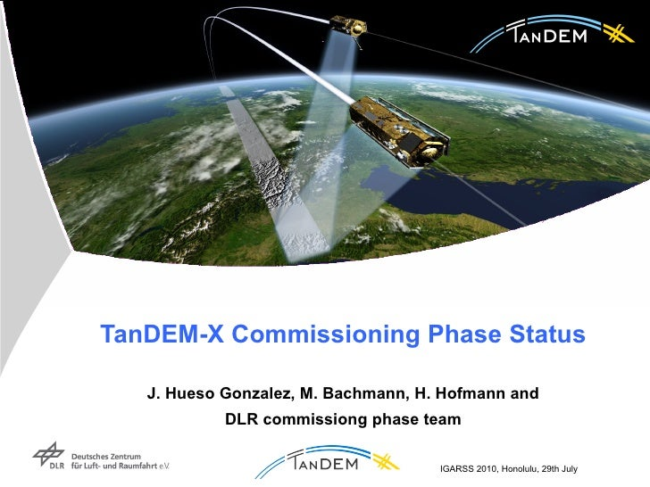TanDEM-X Commissioning Phase Status   J. Hueso Gonzalez, M. Bachmann,   H. Hofmann and  DLR commissiong phase team