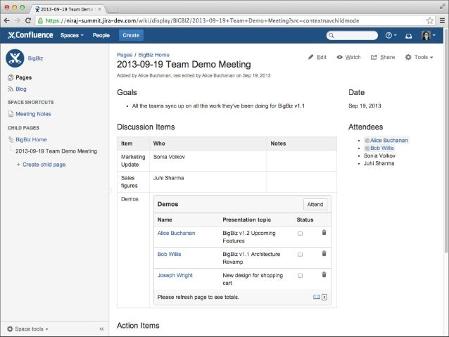 Building content centric add ons for confluence creating an event page using blueprints malvernweather Gallery