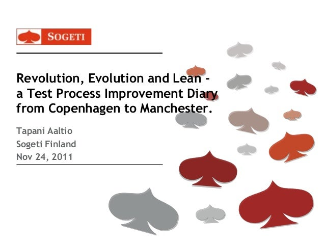Revolution, Evolution and Lean - a Test Process Improvement Diary from Copenhagen to Manchester. Tapani Aaltio Sogeti Finl...