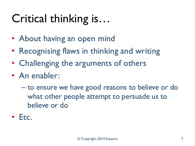"critical thinking flaws in arguments 6) ""the nature of philosophy is itself a philosophical question, but i think of  this  argument is seriously flawed, but the flaw (although serious) can be hard."