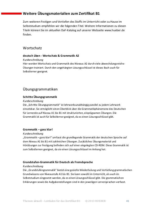 Tha Zertifikat B1 Leitfaden