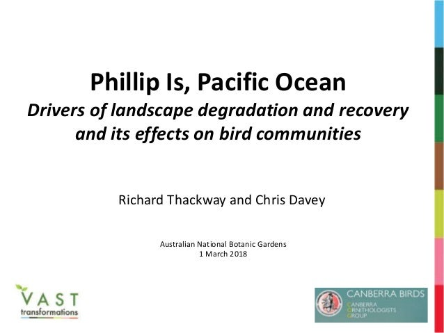 Phillip Is, Pacific Ocean Drivers of landscape degradation and recovery and its effects on bird communities Richard Thackw...