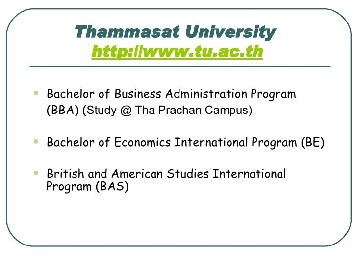 Thammasat University International Program Admission Essay - image 5
