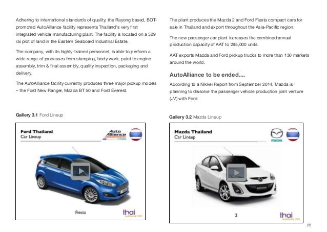 Adhering to international standards of quality, the Rayong based, BOT- promoted AutoAlliance facility represents Thailand'...