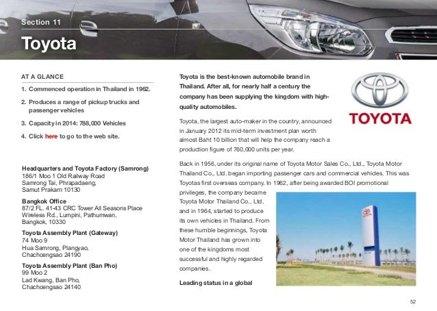 Toyota is the best-known automobile brand in Thailand. After all, for nearly half a century the company has been supplying...