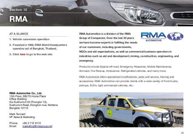 RMA Automotive is a division of the RMA Group of Companies. Over the last 30 years we have become experts in fulfilling the...