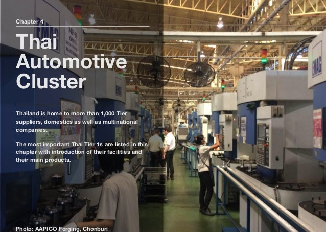 Chapter 4 Thai Automotive Cluster Thailand is home to more than 1,000 Tier suppliers, domestics as well as multinational c...