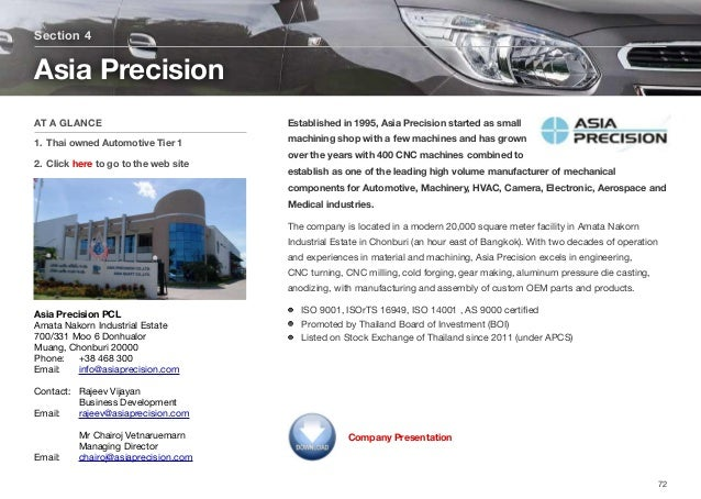 Established in 1995, Asia Precision started as small machining shop with a few machines and has grown over the years with ...
