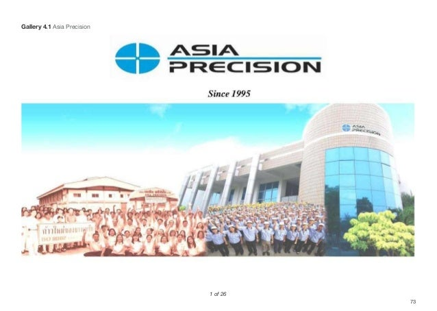 73 1 of 26 Gallery 4.1 Asia Precision