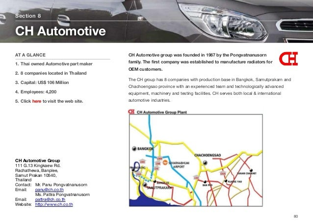 CH Automotive group was founded in 1967 by the Pongvatnanusorn family. The first company was established to manufacture rad...
