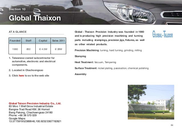 Global - ThaixonPrecision Industrywas founded in 1980 and is producing high precision machining and turning p...