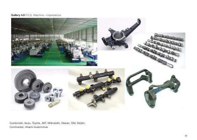 Customers: Isuzu, Toyota, AAT, Mitsubishi, Nissan, GM, Delphi, Continental, Hitachi Automotive 91 Gallery 4.8 P.C.S. Machi...