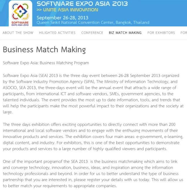 Best match making software