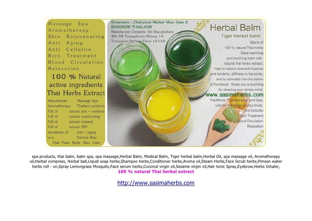 spa products, thai balm, balm spa, spa massage,Herbal Balm, Medical