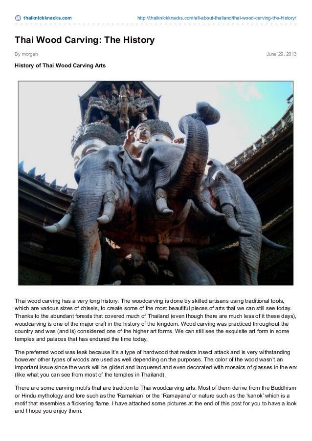 Thai Wood Carving The History Thai Knick Knacks