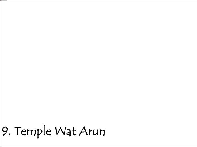 9. Temple Wat Arun