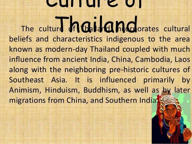 Cultural Identity Much Of Thailands