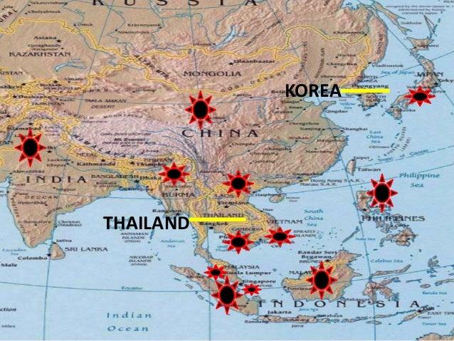Thailand korea mga bansang di nasakop