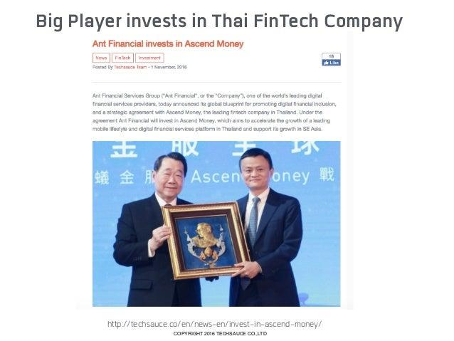 Thailand FinTech Case Study COPYRIGHT 2016 TECHSAUCE CO.,LTD