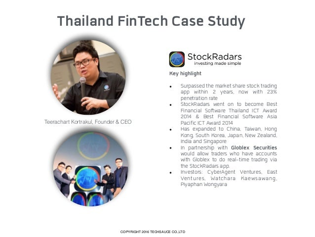 Thailand FinTech Case Study Key highlight • Mary Buffett is an advisor. • One of top 50 startups in Startup Grind Global ...