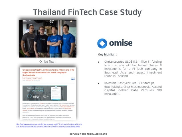 Thailand Fintech landscape 2016 special report by techsauce