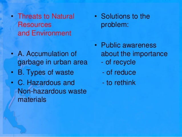 Overuse Of Natural Resources Powerpoint
