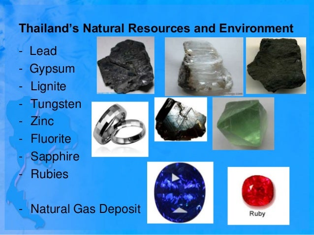 Natural Resources Of Thailand