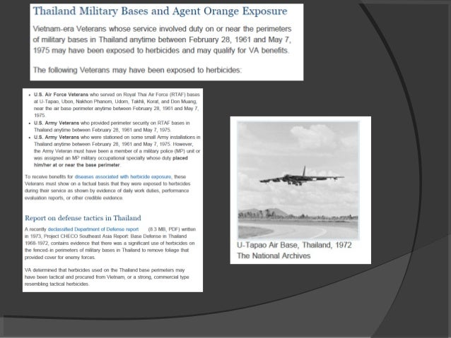 Agent Orange and Thailand Veterans