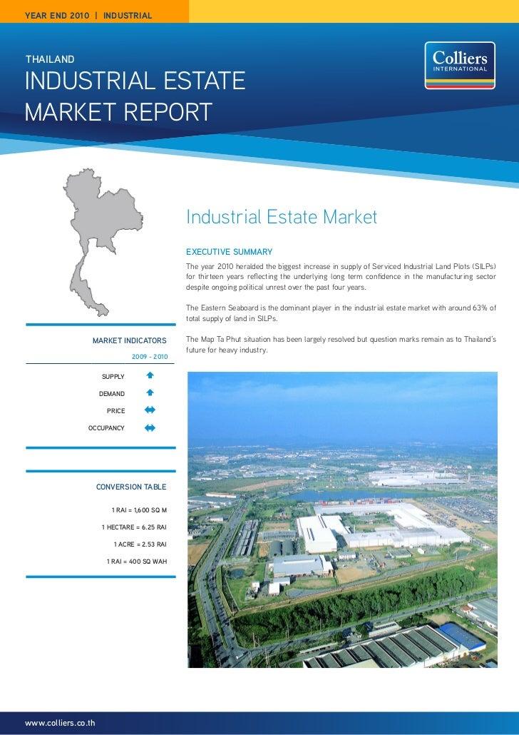 year end 2010 | industrialthaIlandIndustrIal EstatEMarkEt rEPOrt                                             Industrial Es...