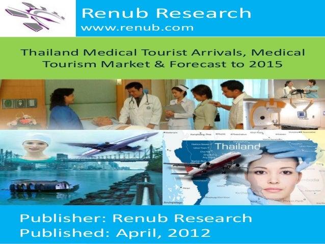 Renub Research www.renub.com Thailand Medical Tourist Arrivals, Medical Tourism Market & Forecast to 2015  Publisher: Renu...