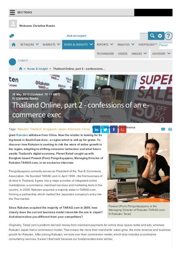 thailand e commerce \u0026 online, part 2 confessions of an e commerce e\u2026admin [turn on edit mode] logout ask an expert ? planet retail logout welcome