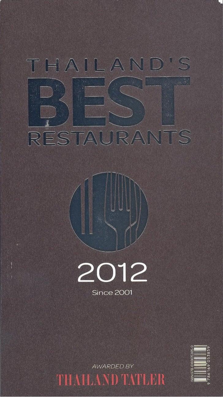 Thailand's Best Restaurants 2012