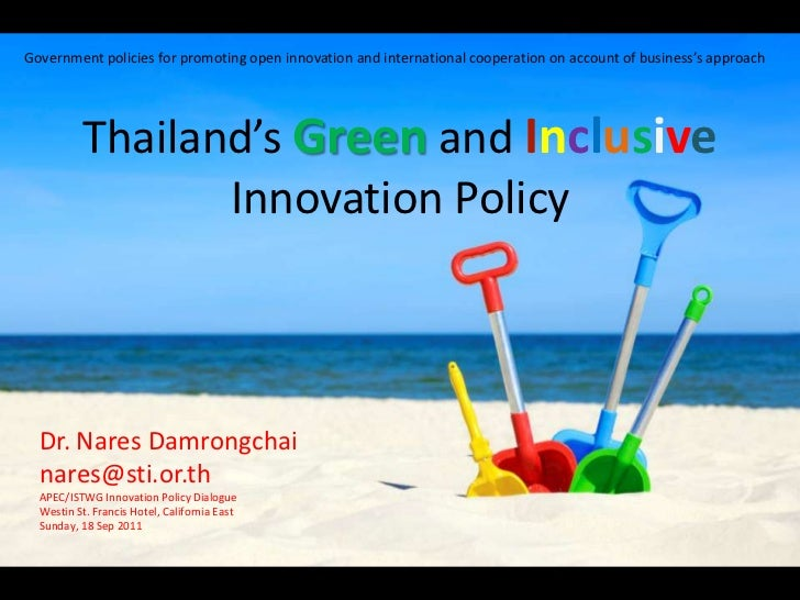 Government policies for promoting open innovation and international cooperation on account of business's approach<br />Tha...