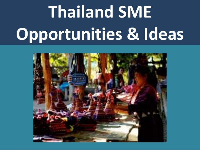 Thailand SME Opportunities & Ideas