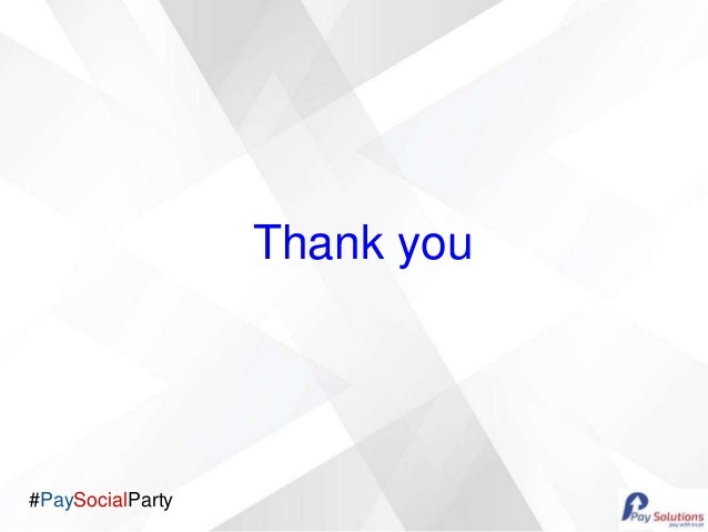 #PaySocialParty Thank you