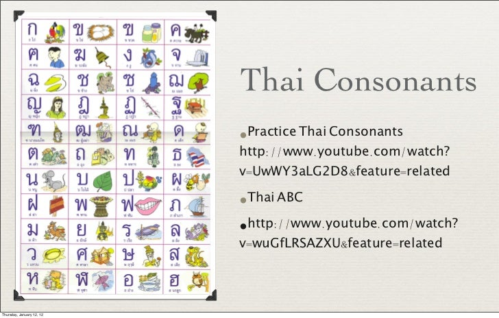 thai alphabet deutsch