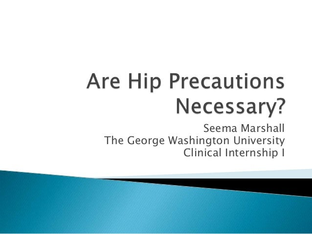 Seema Marshall The George Washington University Clinical Internship I